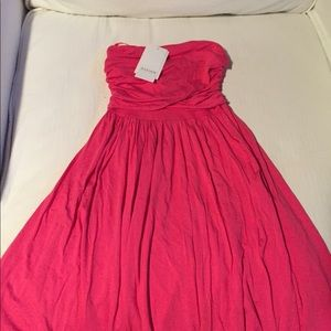 Strapless design history  dress from Macy's
